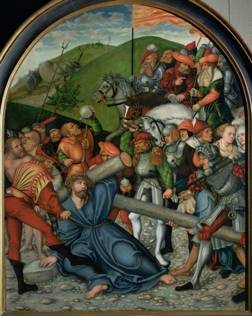 Detail of Christ Carrying the Cross by Lucas