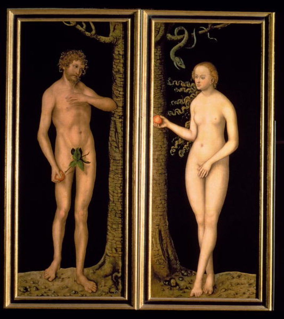 Detail of Adam and Eve by Lucas
