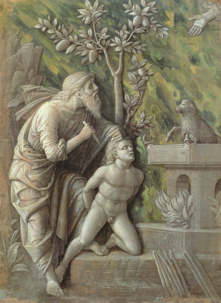 Detail of Abraham sacrificing Isaac by Andrea Mantegna