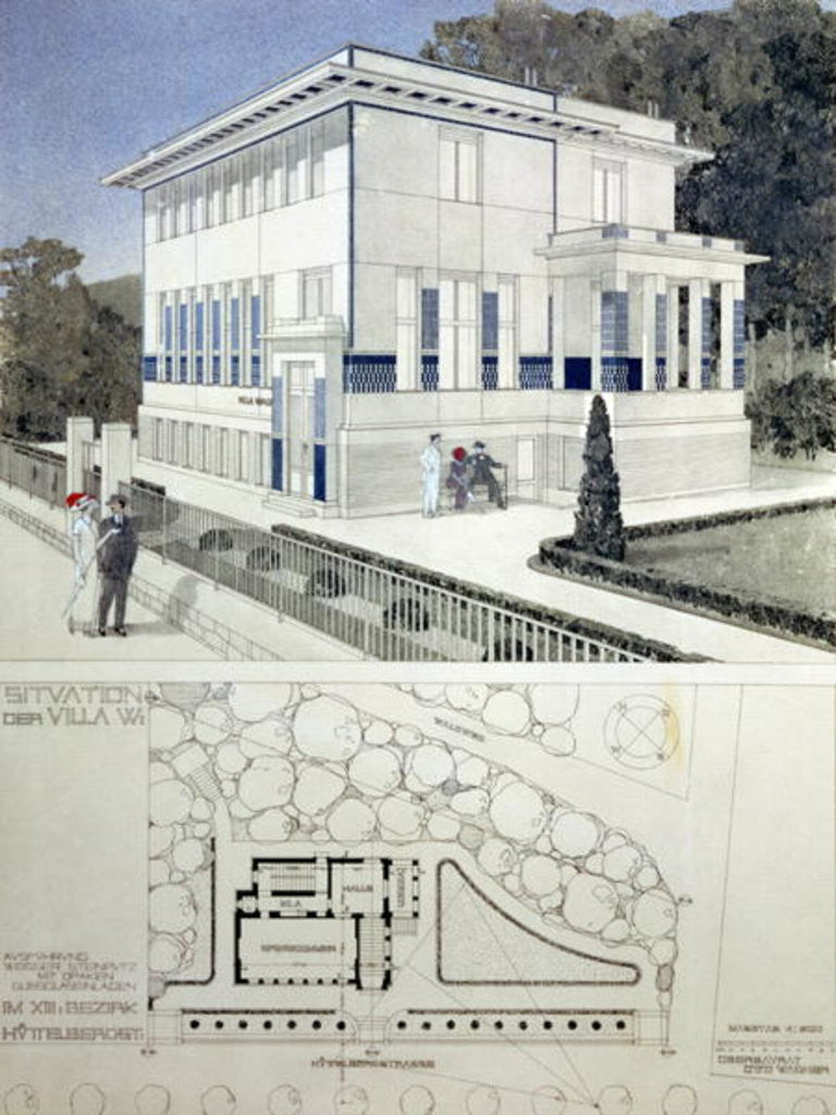 Detail of Villa Wagner, Vienna by Otto Wagner