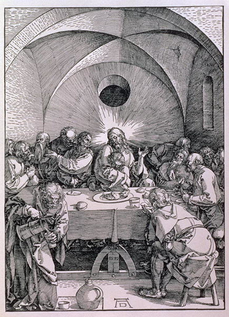 Detail of The Last Supper by Albrecht Dürer or Duerer