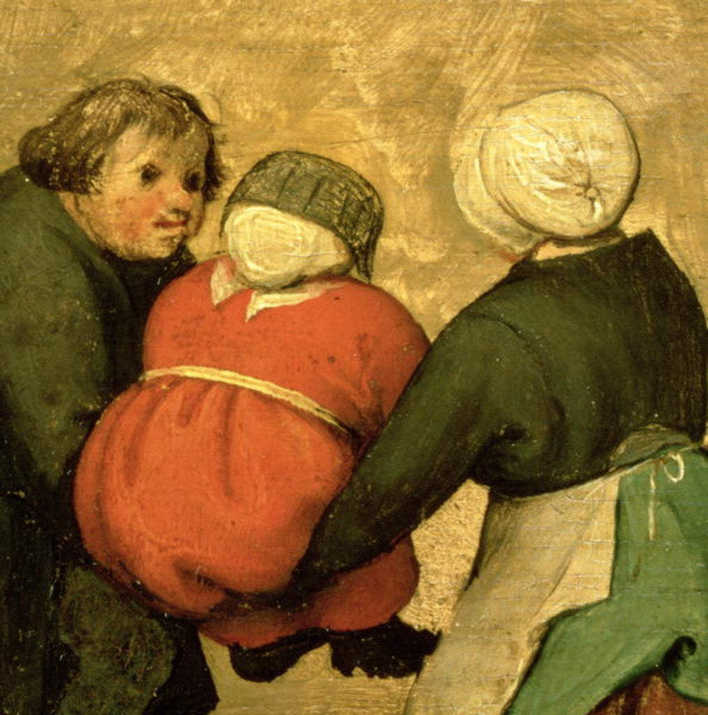 Detail of Detail of a child carried by two others by Pieter Bruegel the Elder