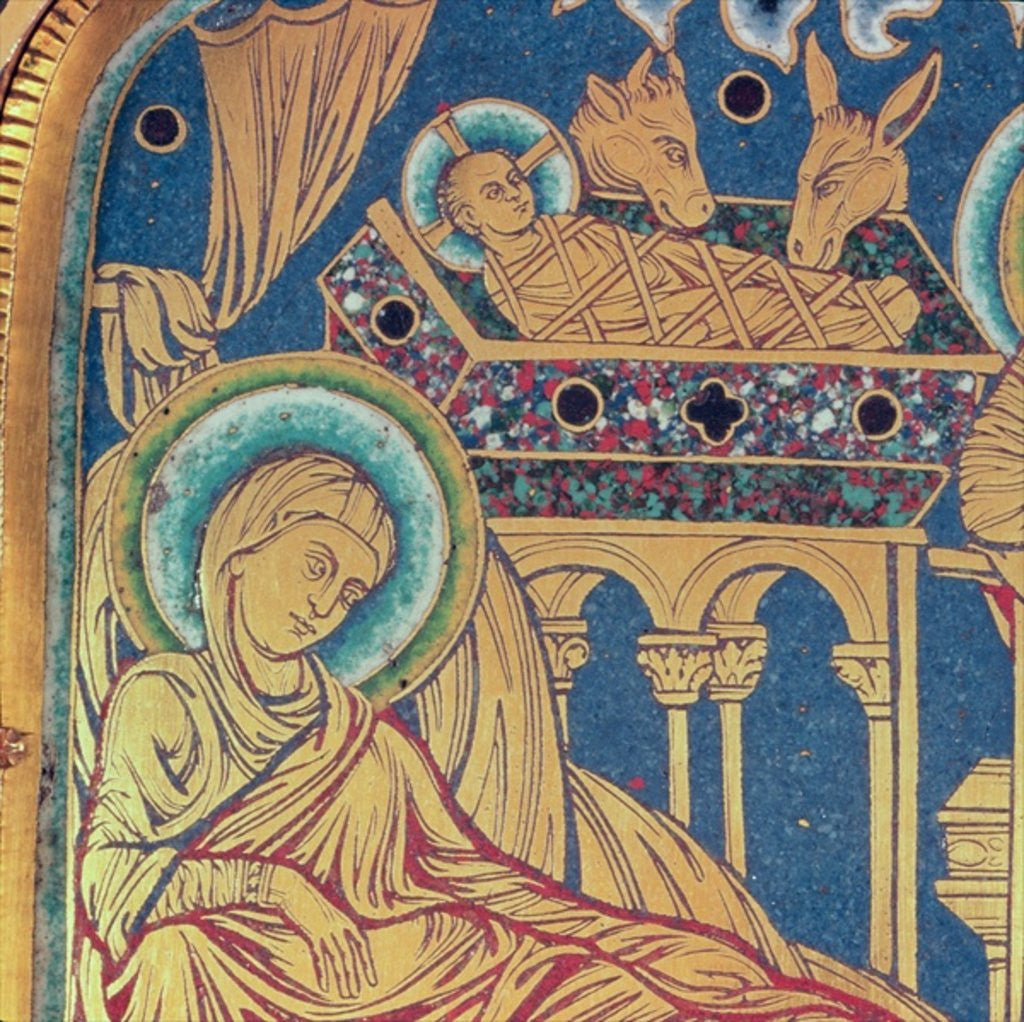 Detail of The Nativity, panel from the The Verduner Altar by Nicholas of Verdun