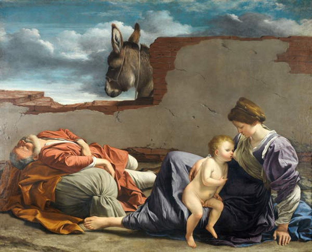 Detail of Rest on the Flight into Egypt, 1615-1621 by Orazio Gentileschi