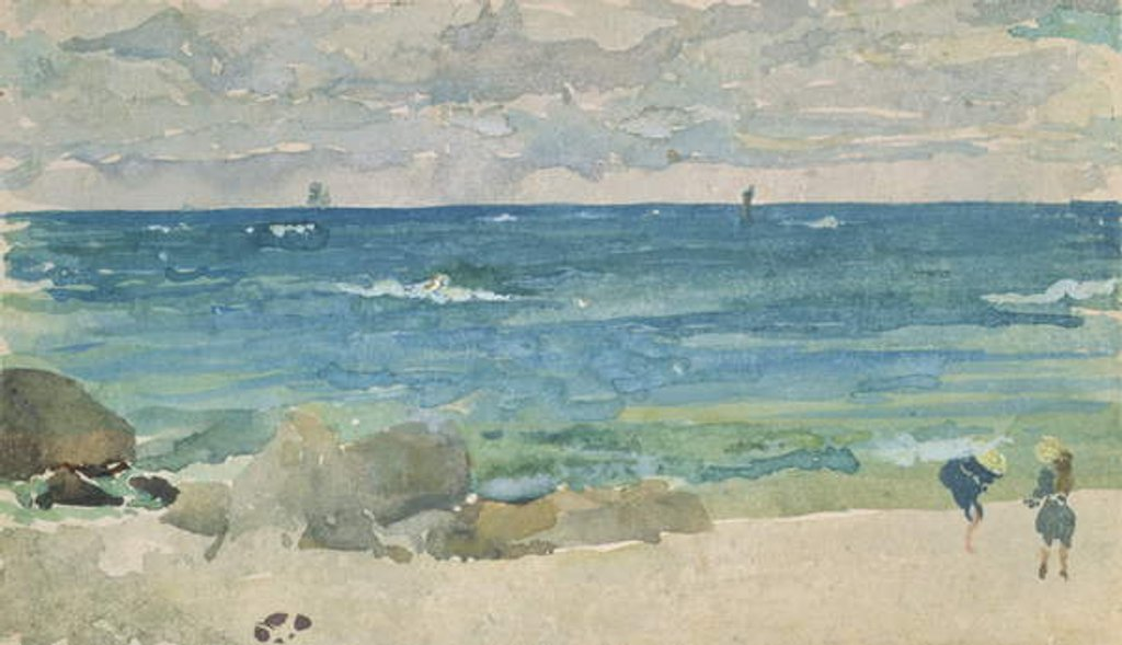 Detail of Beach Scene With Two Figures, 1885-90 by James Abbott McNeill Whistler