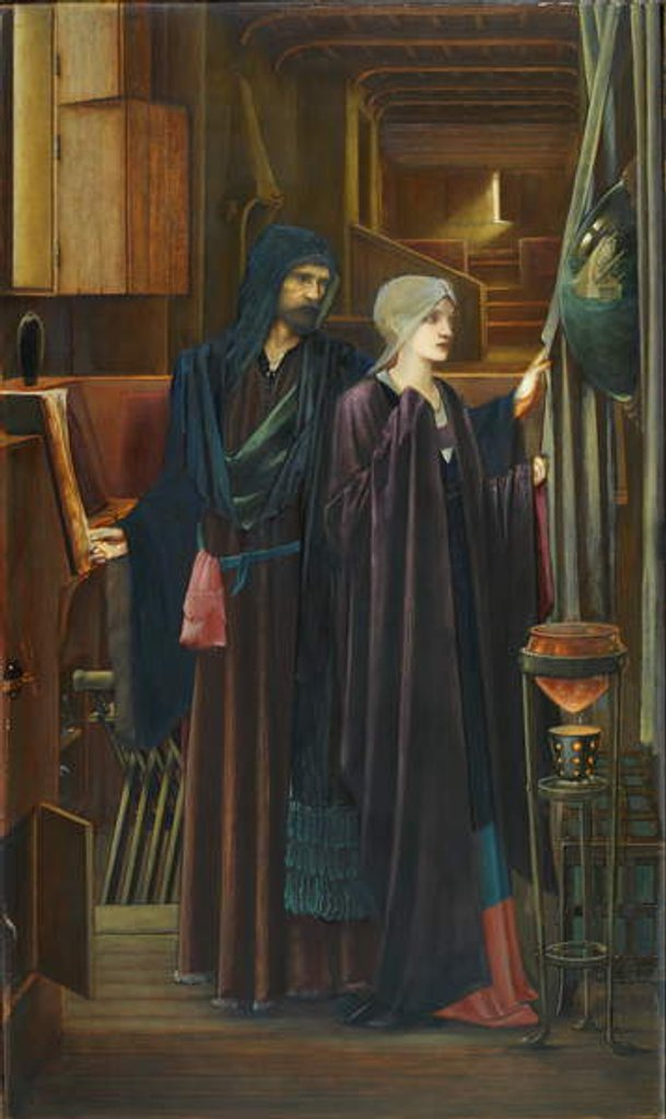 Detail of The Wizard, 1898 by Edward Coley Burne-Jones