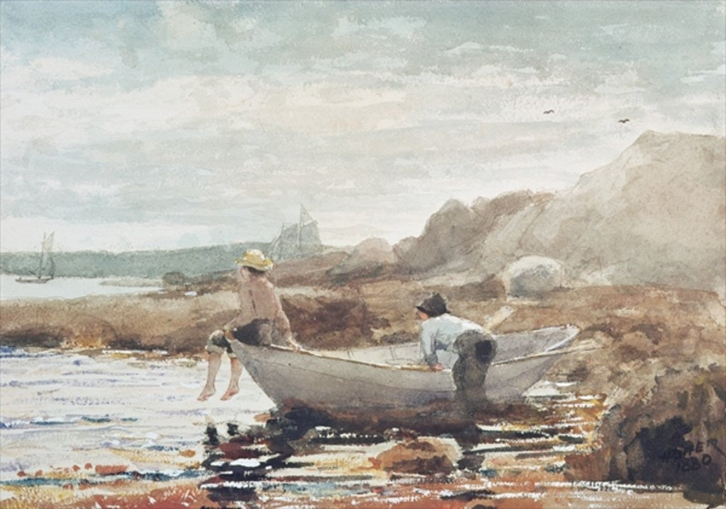 Detail of Boys on the Beach by Winslow Homer
