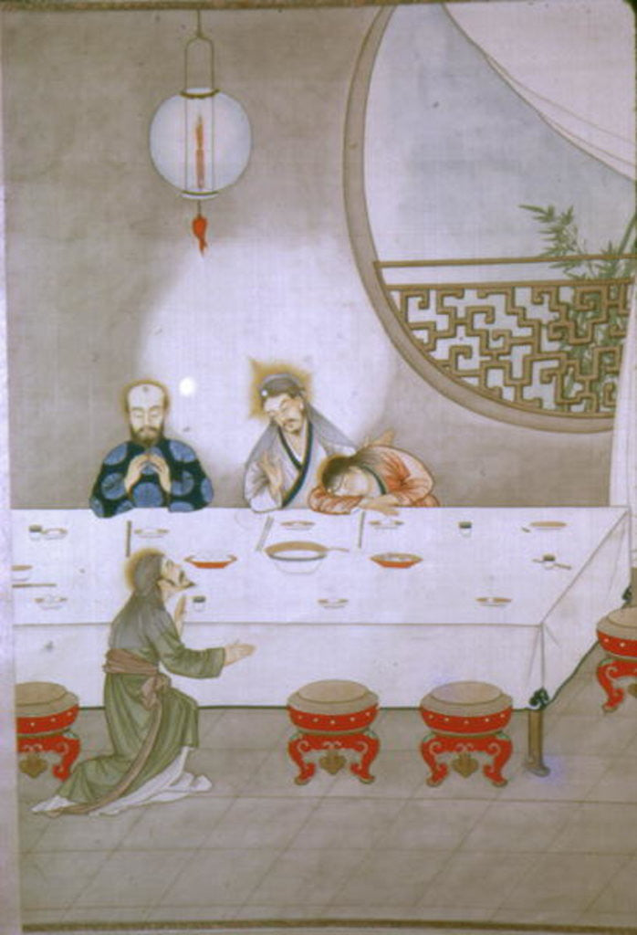 Detail of Last Supper by Chinese School
