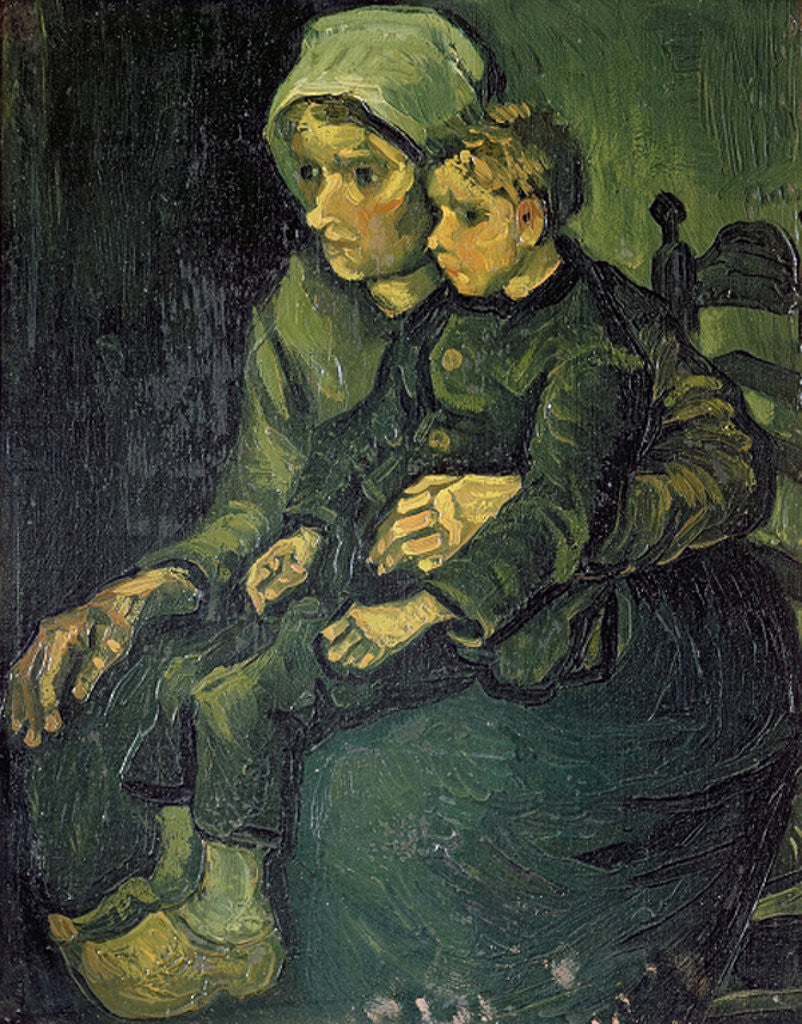 Detail of Mother and Child by Vincent van Gogh