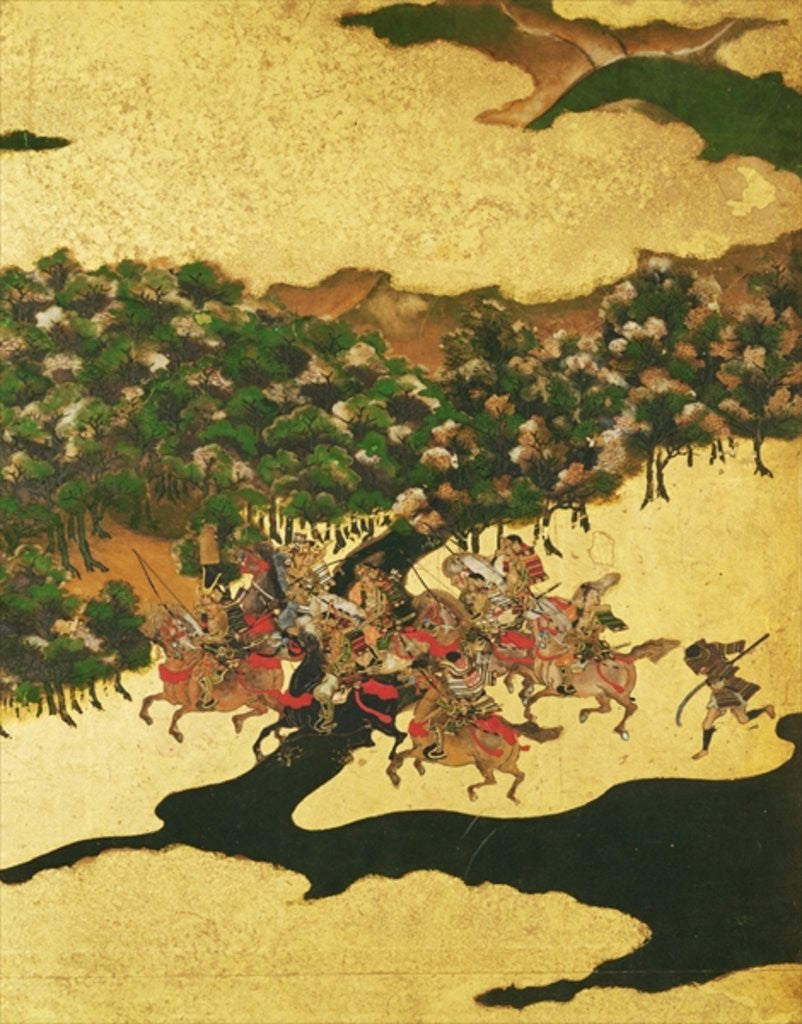 Detail of Battle of Hogen in 1156, Momoyama Period by Japanese School