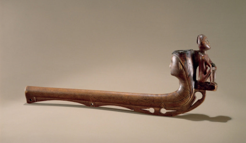 Detail of Iroquois Pipe by American School