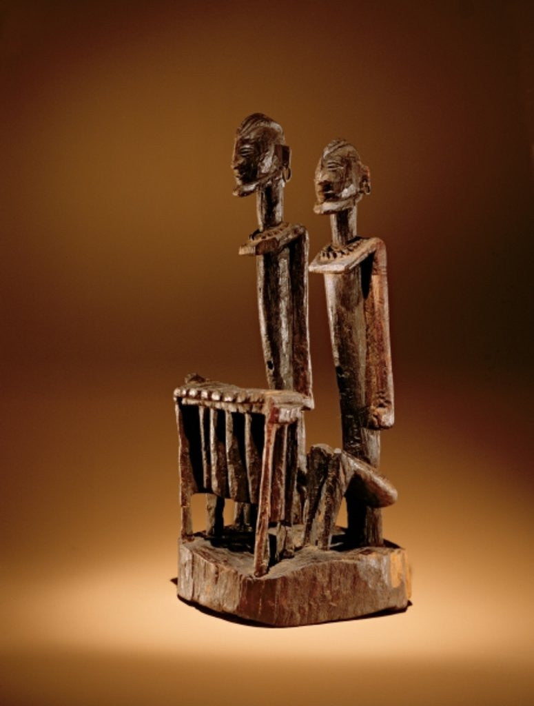 Detail of Figures with xylophone by Dogon Culture