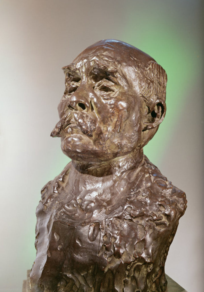 Detail of Bust of Georges Clemenceau by Auguste Rodin