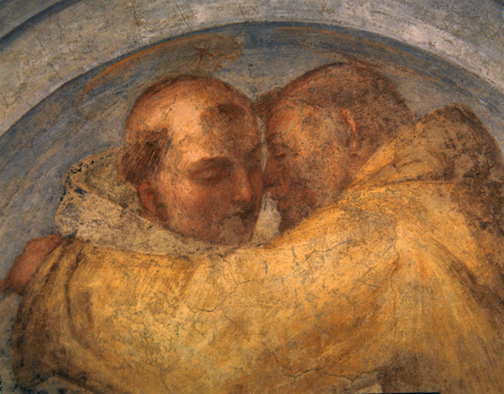 Detail of The meeting of St Francis and St Dominic by Fra Bartolommeo
