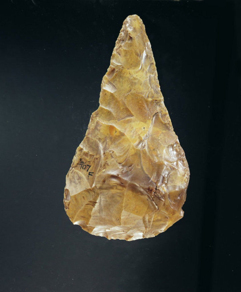 Detail of Acheulean Hand Axe by Paleolithic