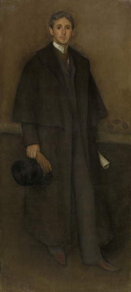 Detail of Arrangement in Flesh Color and Brown: Portrait of Arthur Jerome Eddy, 1894 by James Abbott McNeill Whistler