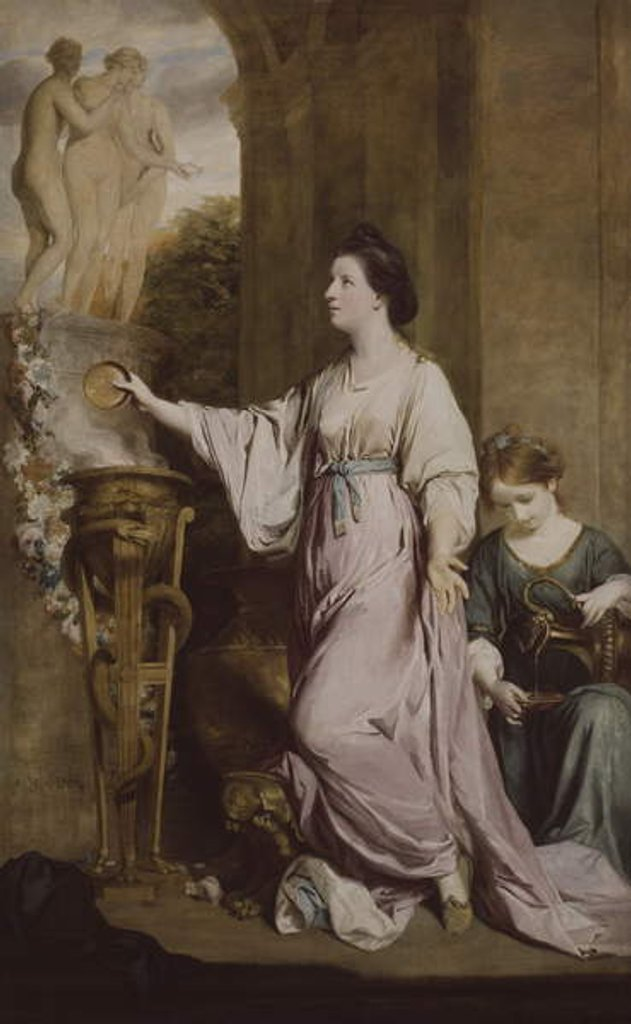 Detail of Lady Sarah Bunbury Sacrificing to the Graces, 1763-65 by Joshua Reynolds