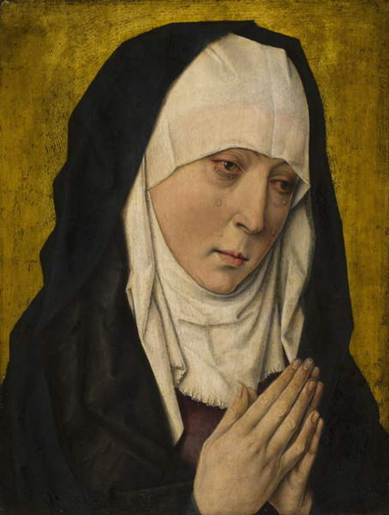 Detail of Mater Dolorosa, 1480-1500 by Dieric the Elder Bouts