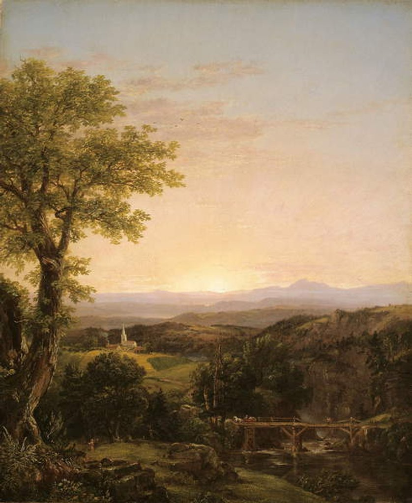 Detail of New England Scenery, 1839 by Thomas Cole