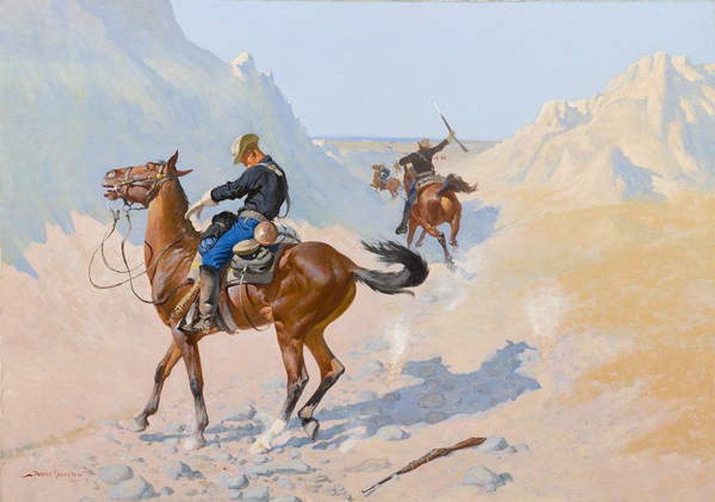 Detail of The Advance-Guard, or The Military Sacrifice, 1890 by Frederic Remington