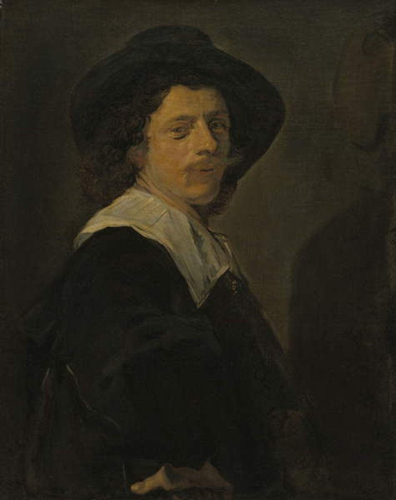 Detail of Portrait of an Artist, 1644 by Frans Hals