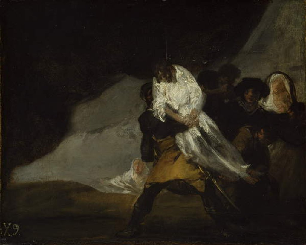 Detail of The Hanged Monk, c.1810 by Francisco Jose de Goya y Lucientes