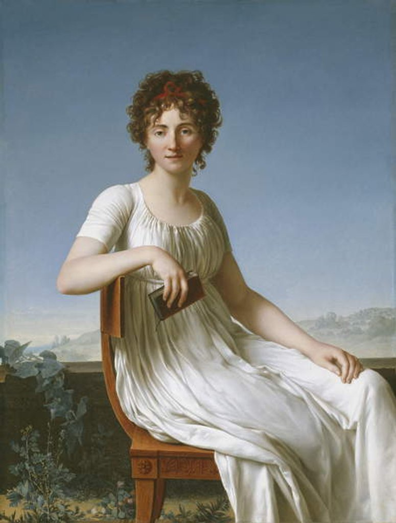 Detail of Portrait of Constance Pipelet, 1797 by Jean Baptiste Francois Desoria