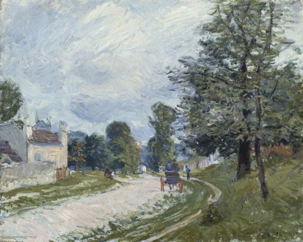 Detail of A Turn in the Road, 1873 by Alfred Sisley