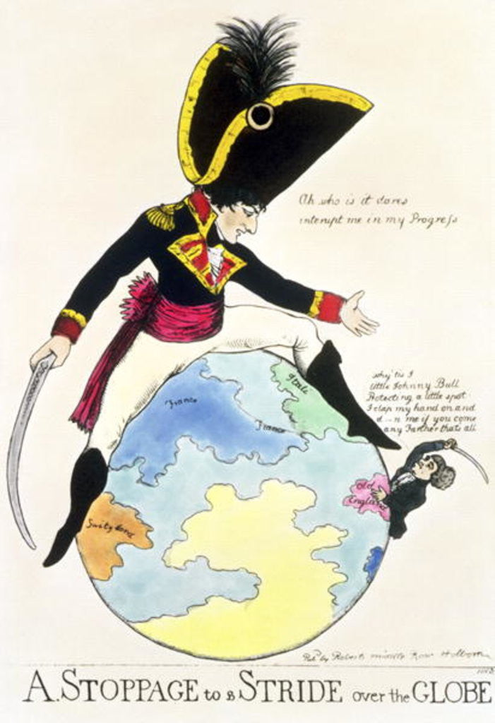 Detail of A Stoppage to a Stride over the Globe by English School