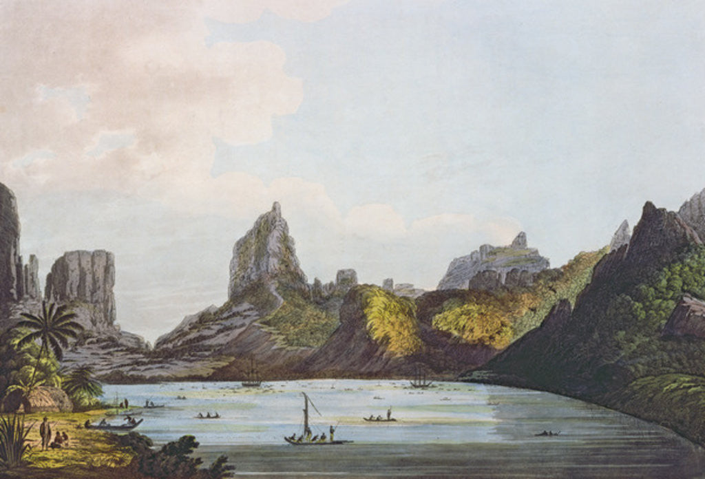 Detail of View of the Harbour of Taloo in the Island of Eimeo by John Webber