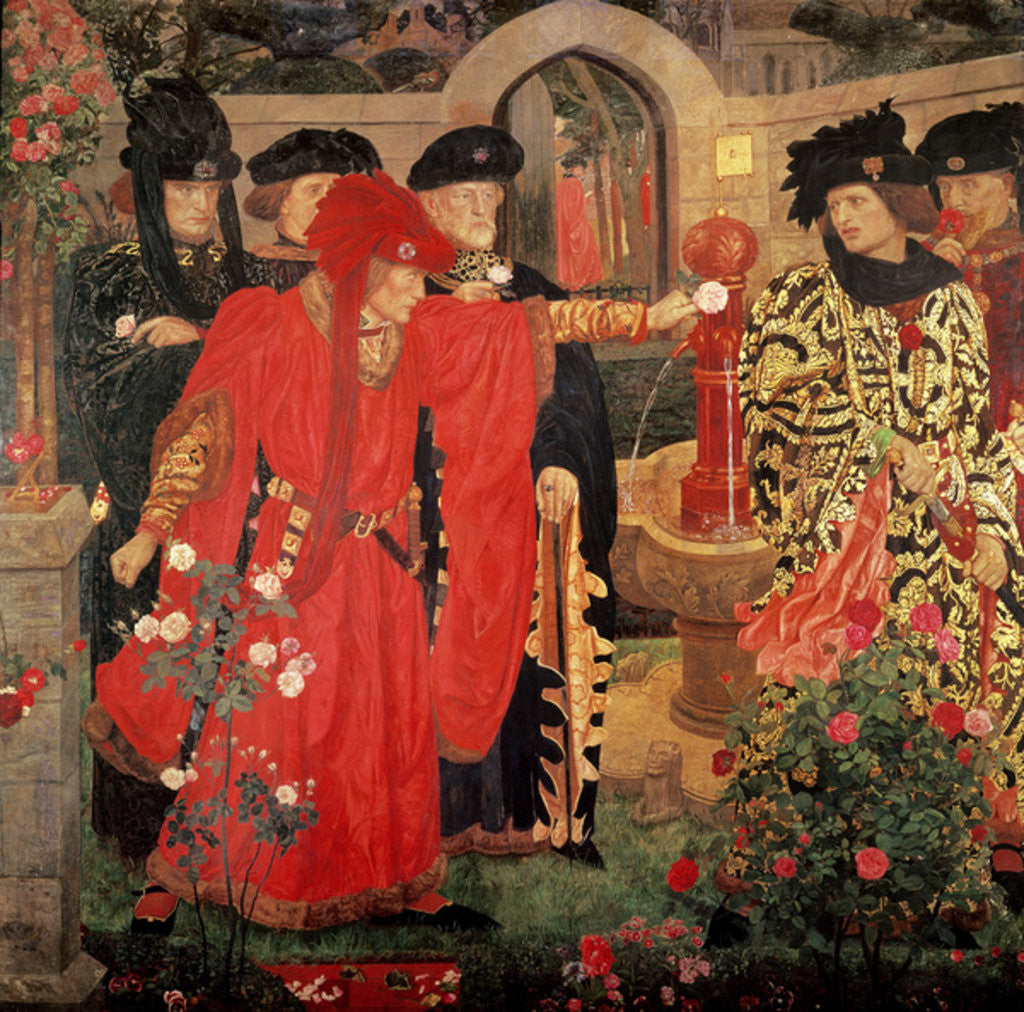 Detail of Choosing the Red and White Roses in the Temple Garden by Henry A. Payne