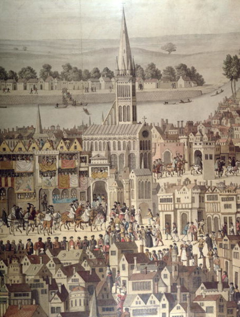 Detail of The Coronation Procession of King Edward VI in 1547 by English School