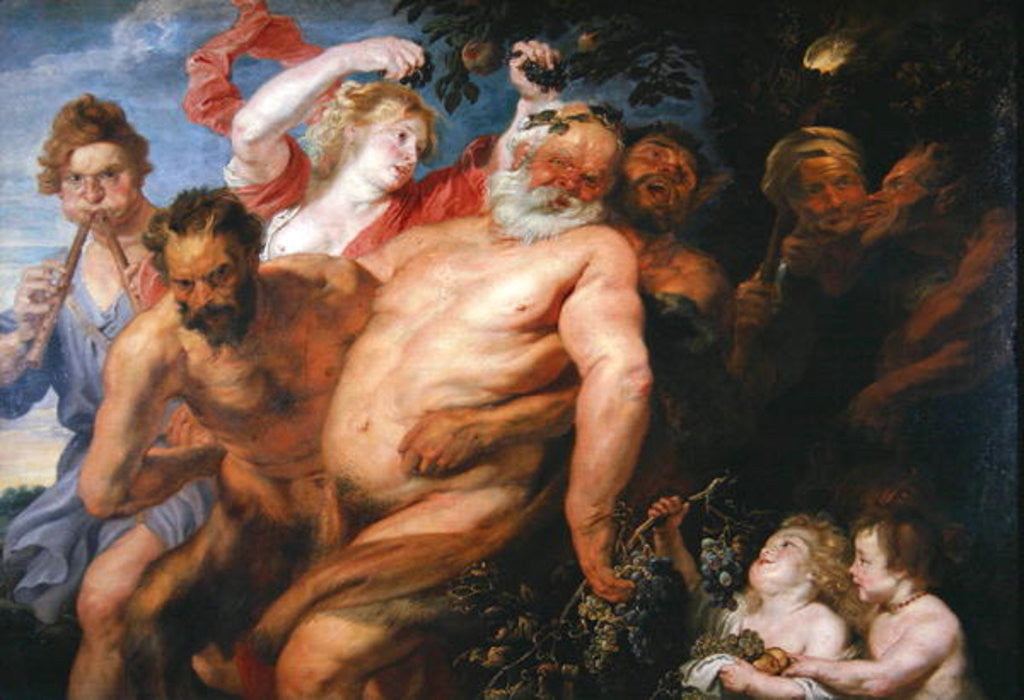 Detail of Drunken Silenus Supported by Satyrs by Peter Paul Rubens