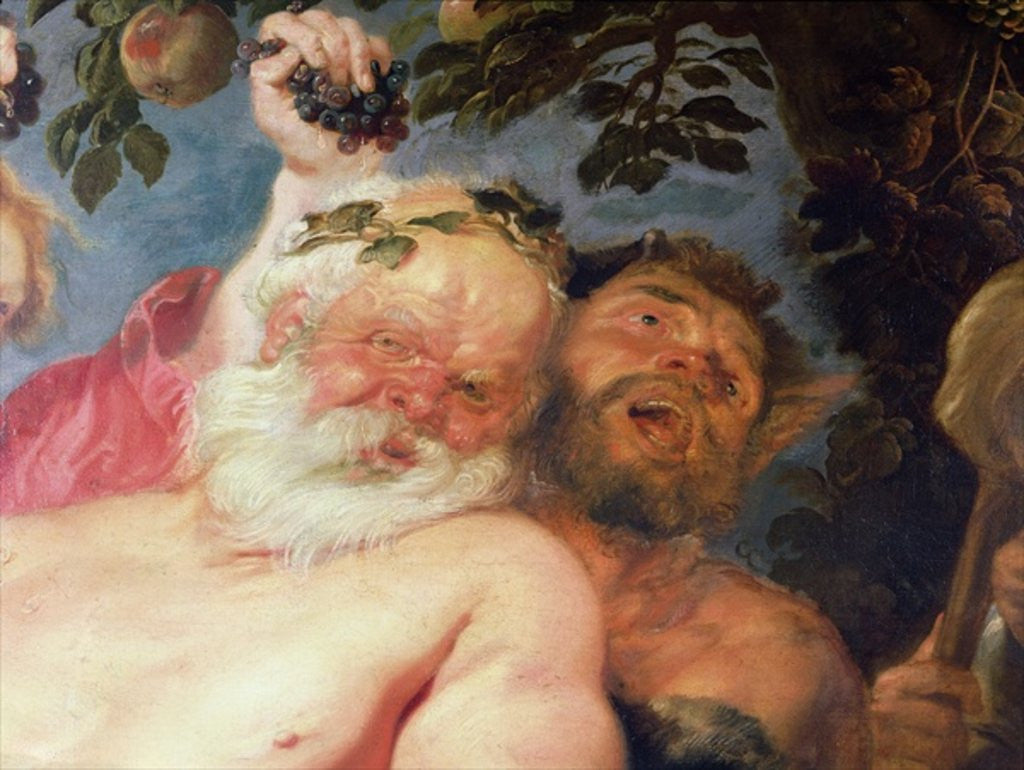 Drunken Silenus Supported by Satyrs by Peter Paul Rubens