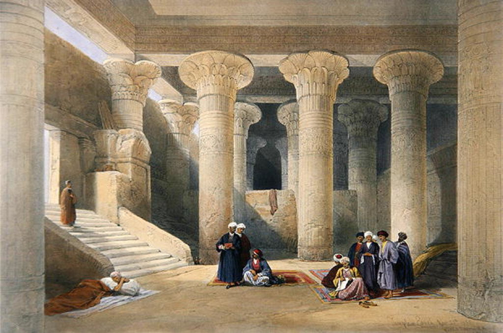 Detail of Interior of the Temple at Esna, Upper Egypt by David Roberts