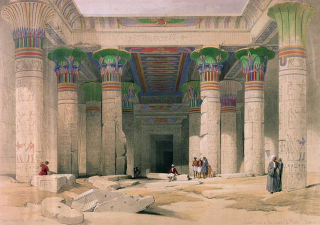 Detail of Grand Portico of the Temple of Philae, Nubia by David Roberts