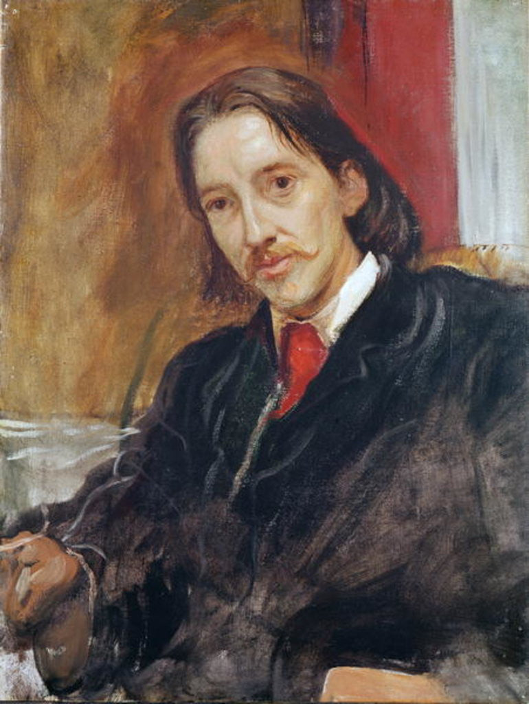 Detail of Portrait of Robert Louis Stevenson by Sir William Blake Richmond