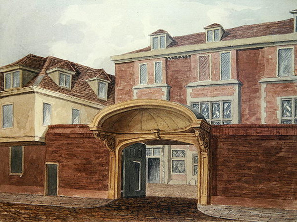 Detail of Entrance to Old Winchester House by William Brown