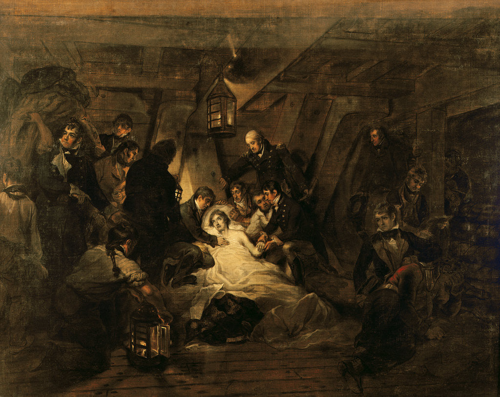 Detail of The Death of Nelson by Arthur William Devis