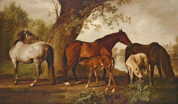 Detail of Mare and Foals by George Stubbs
