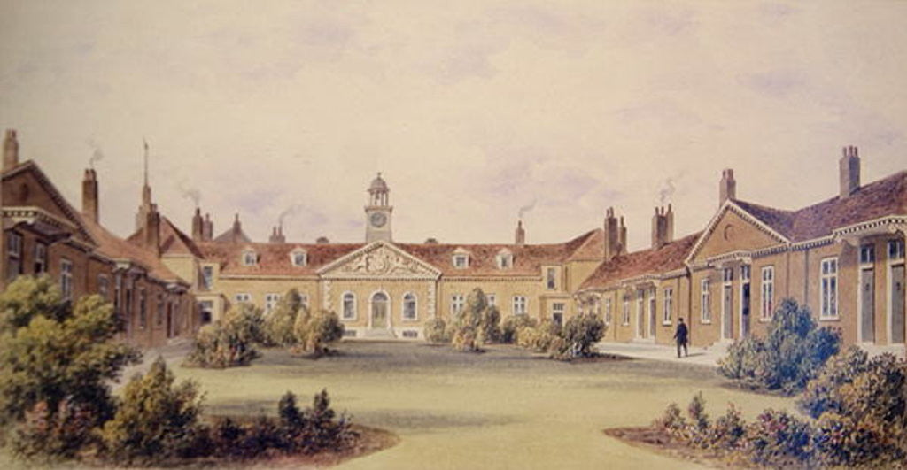 Detail of Emanuel Hospital, Tothill Fields by Thomas Hosmer Shepherd