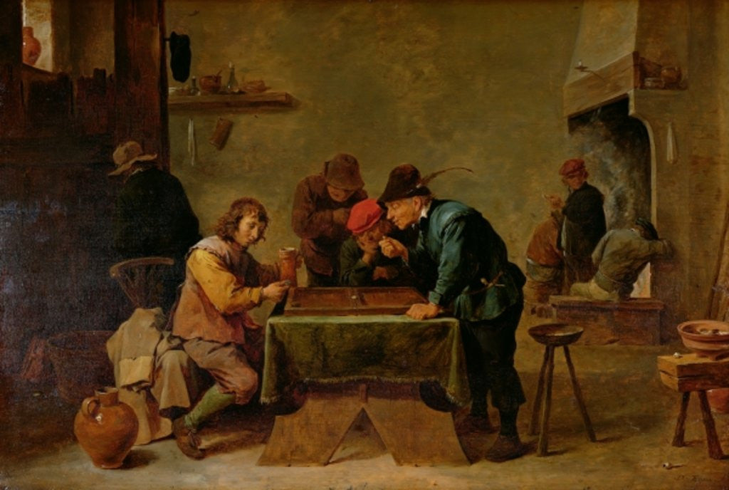 Detail of Backgammon Players by David the Younger Teniers