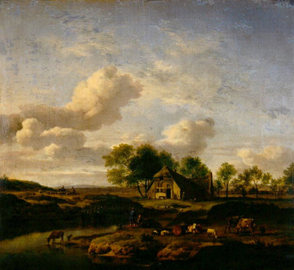Detail of The Little Farm by Adriaen van de Velde