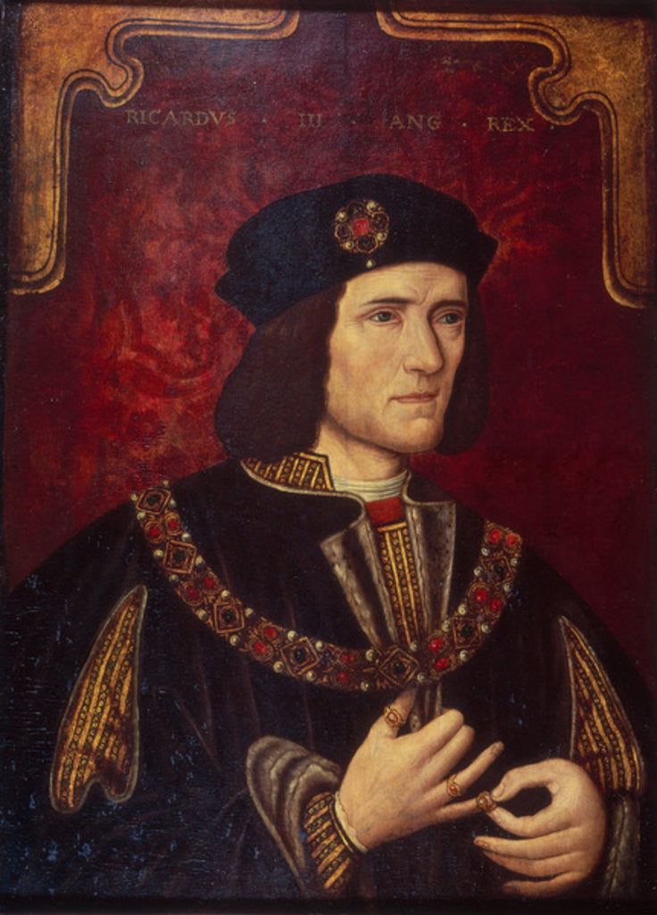Detail of Portrait of King Richard III by English School