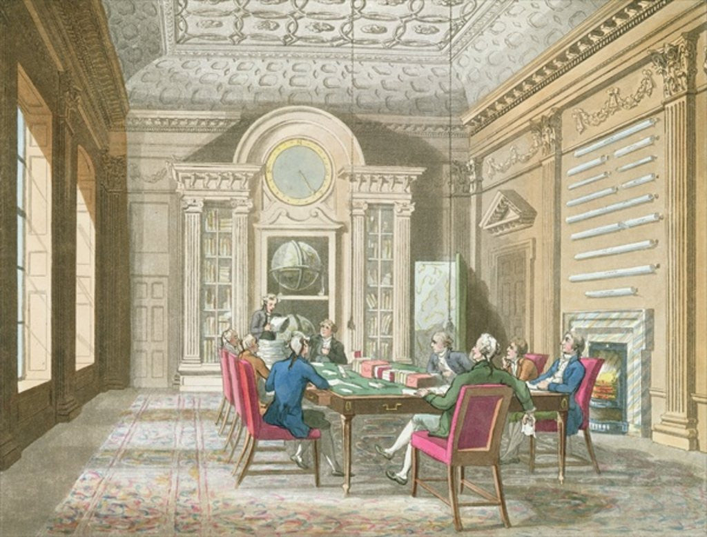 Detail of Board Room of The Admiralty by T. & Pugin