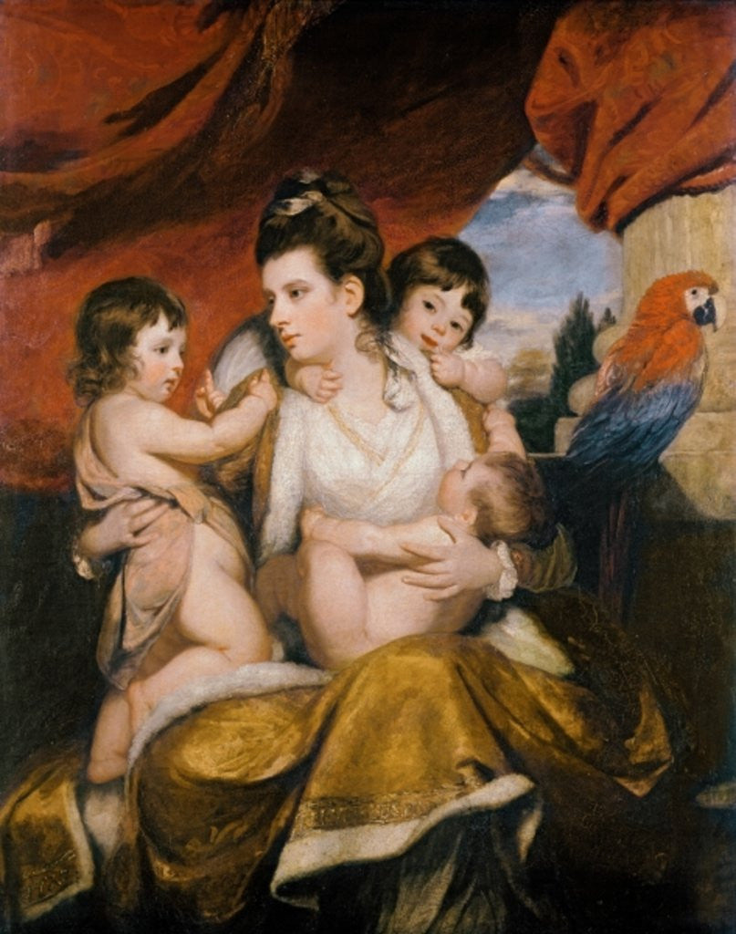 Detail of Lady Cockburn and her Three Eldest Sons by Sir Joshua Reynolds