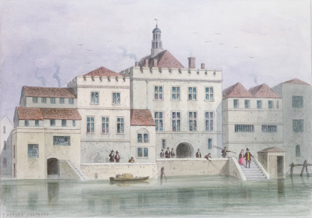 Detail of View of Old Fishmongers Hall by Thomas Hosmer Shepherd