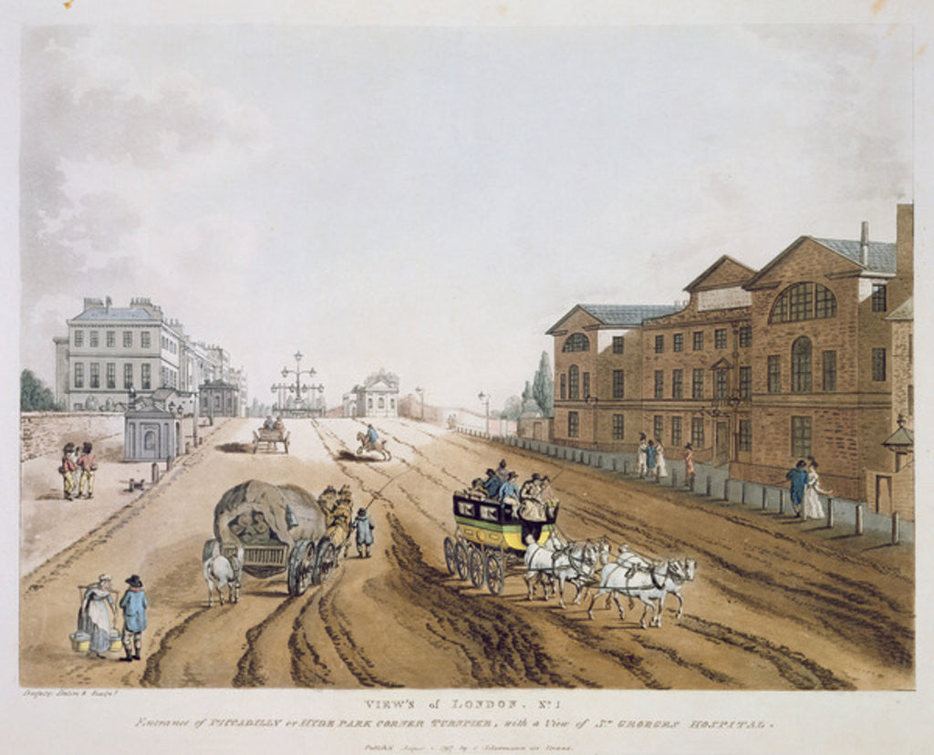 Detail of View of London by English School