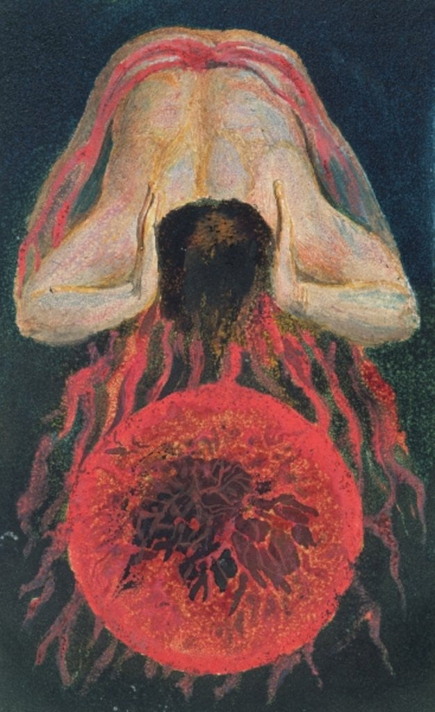 Detail of The First Book of Urizen by William Blake