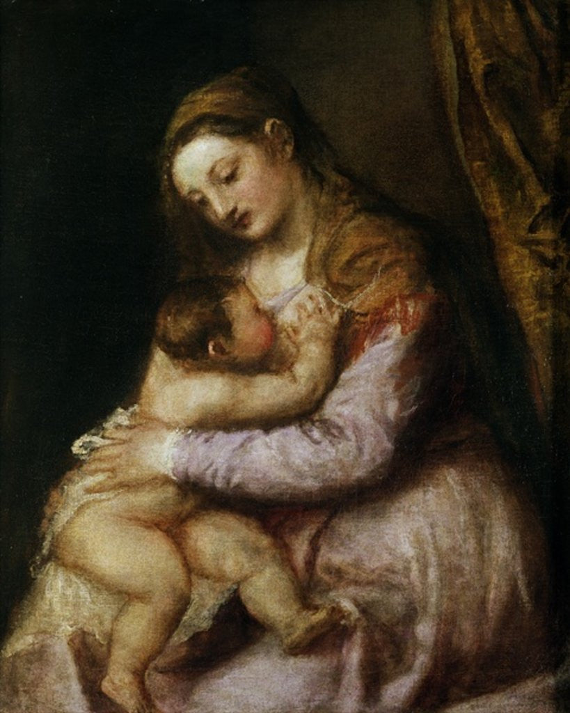Detail of The Virgin and Child by Titian